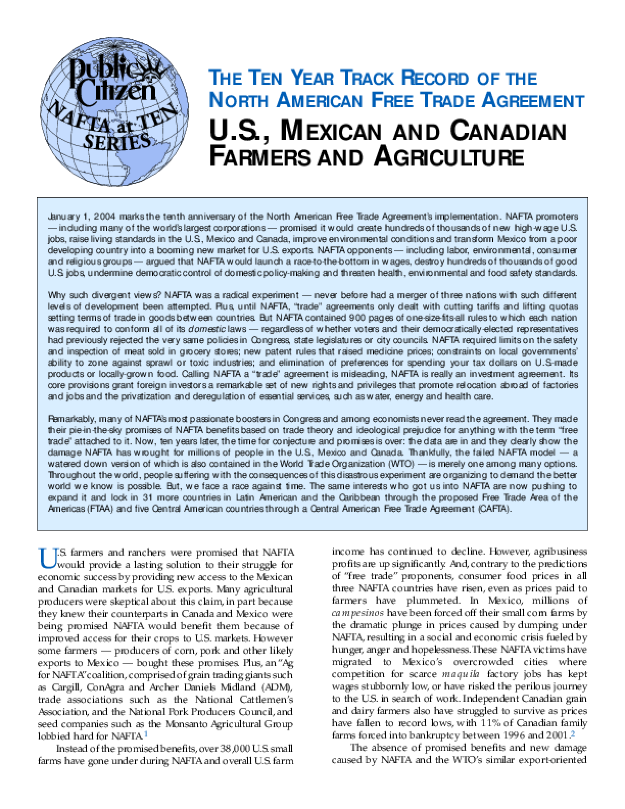 nafta and globalization essay
